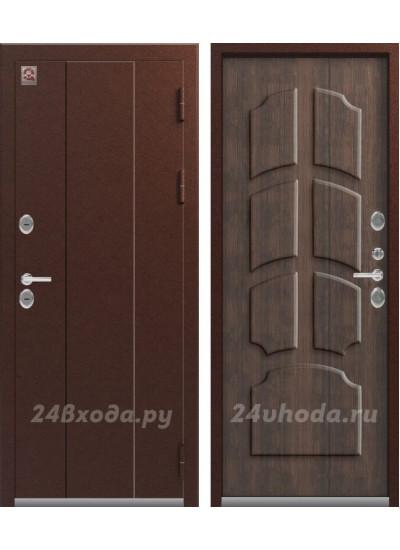 Дверь с терморазрывом ЦЕНТУРИОН T4 - ТЕРМО-дверь (Медь / Тиковое дерево)