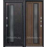 ЦЕНТУРИОН T5 PREMIUM - ТЕРМО-дверь (Черный скол дуба / Миндаль)