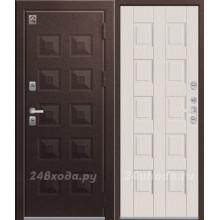 ЦЕНТУРИОН T6 PREMIUM - ТЕРМО-дверь (Шоколад муар / Белый скол дуба)