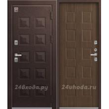 ЦЕНТУРИОН T6 PREMIUM - ТЕРМО-дверь (Шоколад муар / Дуб Мэлвилл)