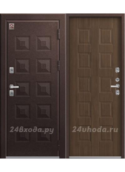 Дверь с терморазрывом ЦЕНТУРИОН T6 PREMIUM - ТЕРМО-дверь (Шоколад муар / Дуб Мэлвилл)