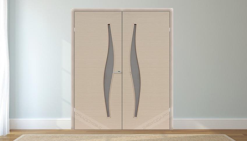 Дверь двустворчатая беленый дуб 2 24vhoda.ru - 50