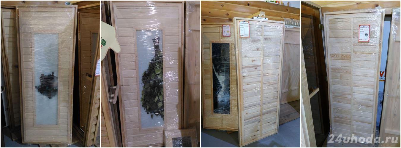 Двери для бани из осины и сосны 02