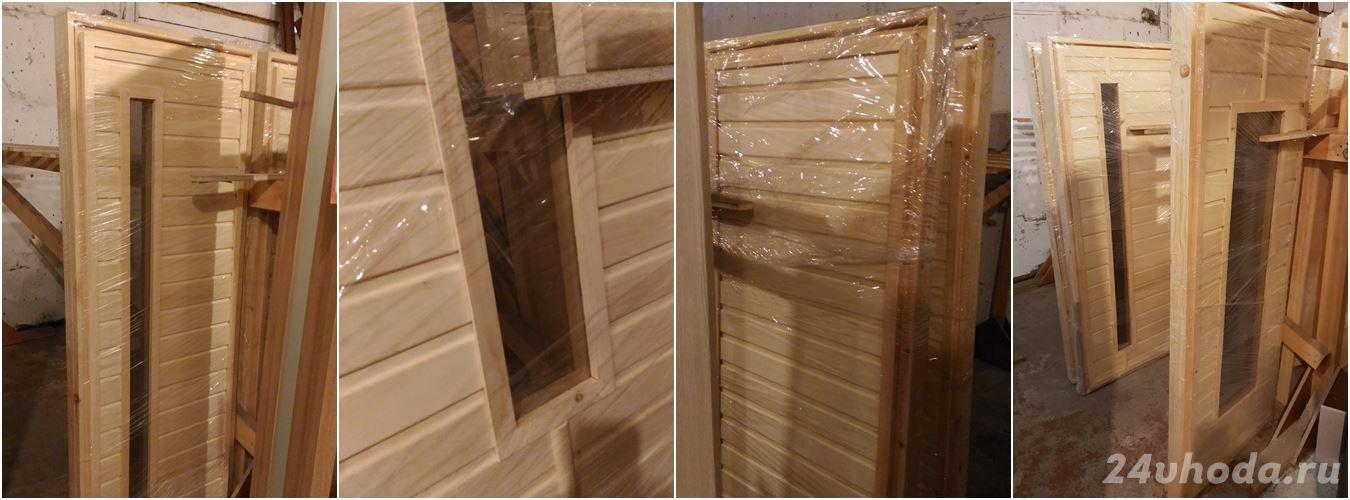 Двери для бани из осины и сосны 03