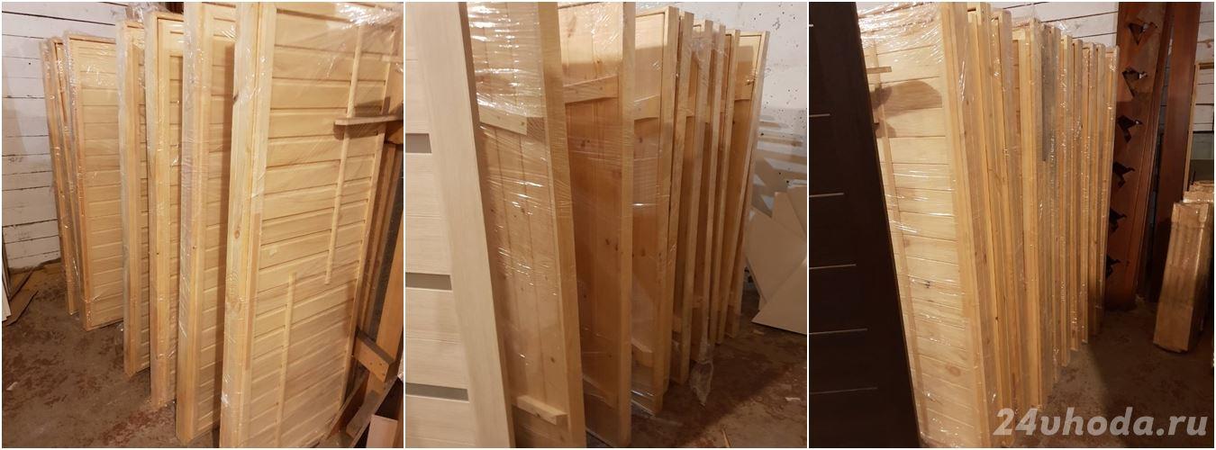 Двери для бани из осины и сосны 07