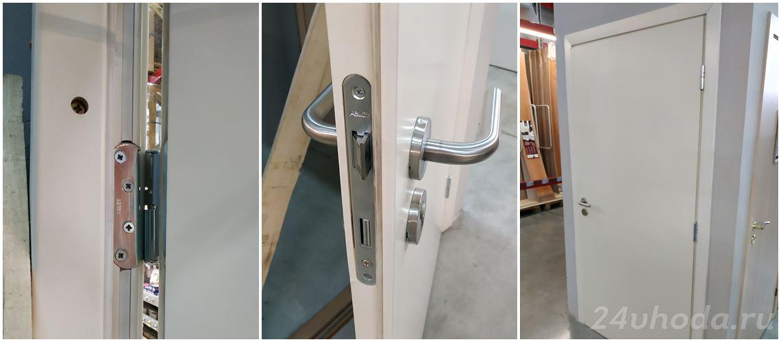 Фото дверей олови Белая звукоизоляционная противопожарная дверь EI 30 - 42 дБ