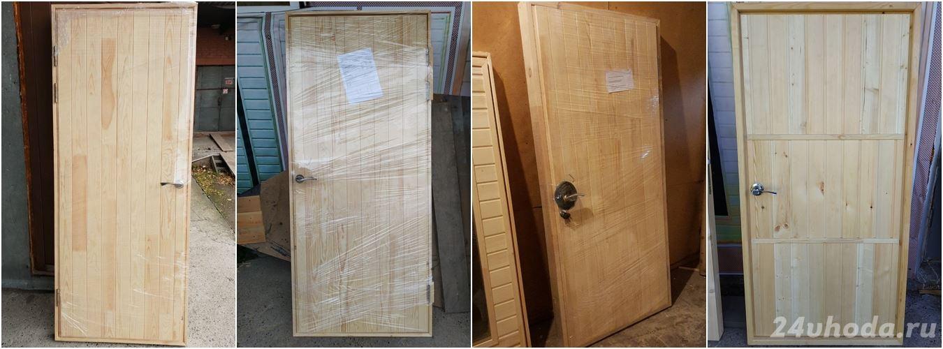 Утепленные входные деревянные двери 01