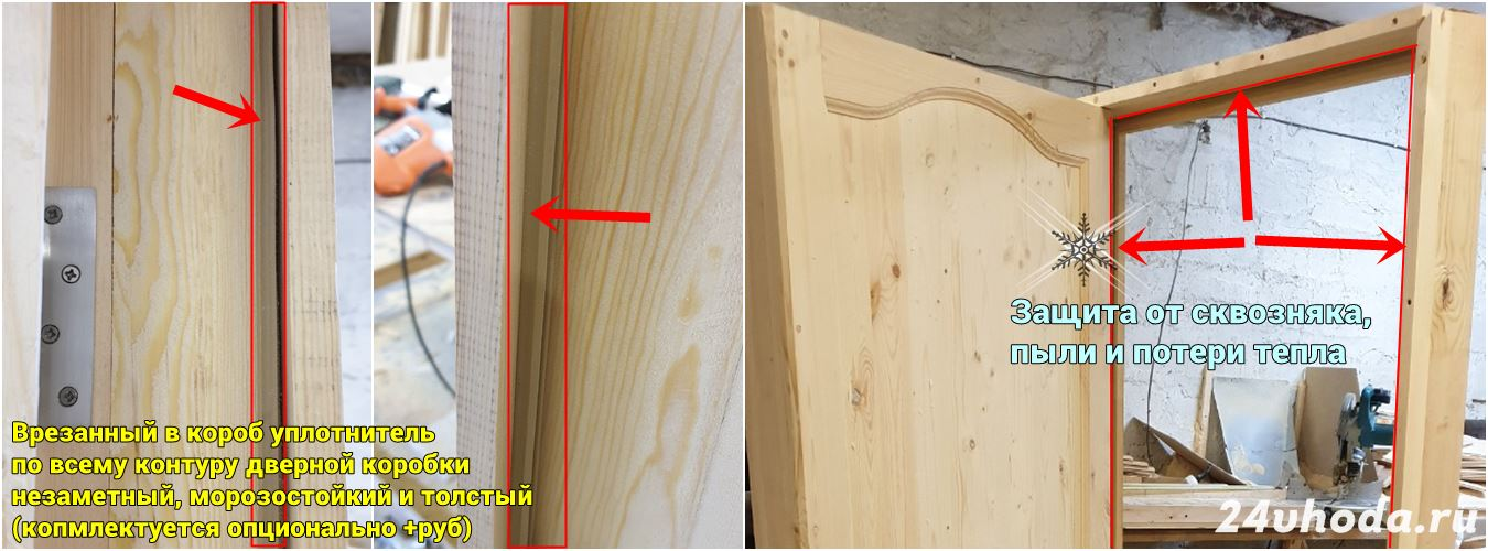 Уплотнитель в деревянной двери