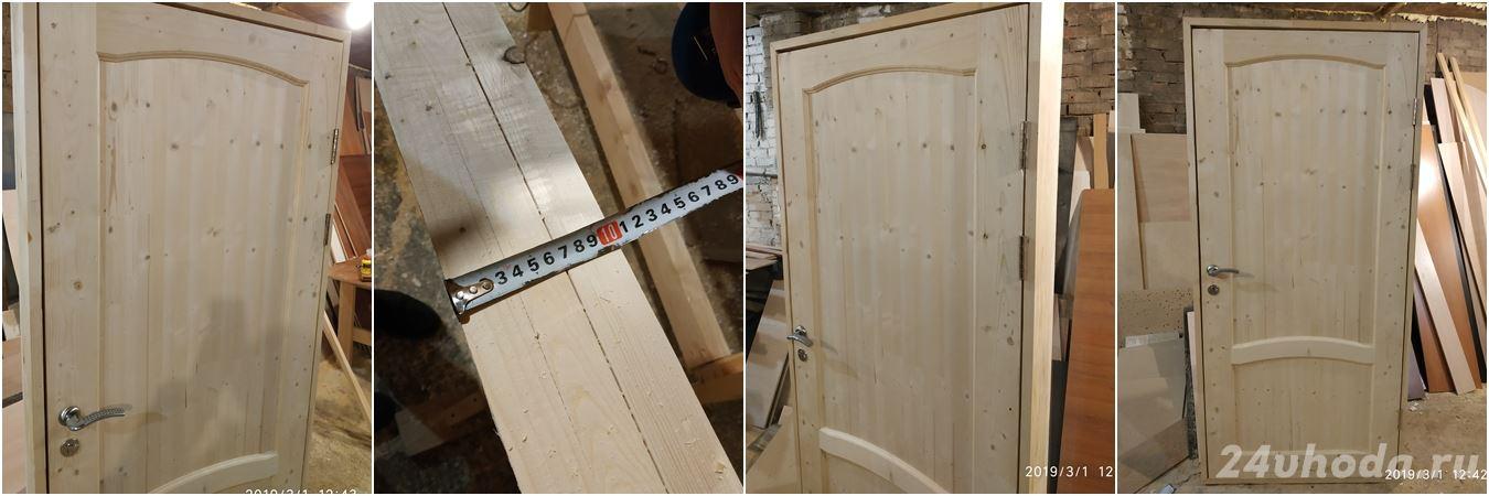 Утепленные входные деревянные двери 02