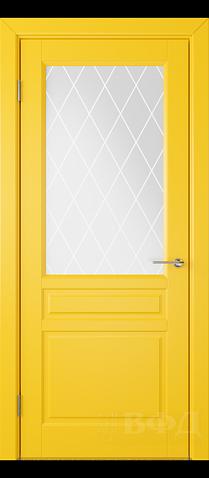 Межкомнатная дверь ВФД - Стокгольм 56ДО08 жёлтый (сатинат ...