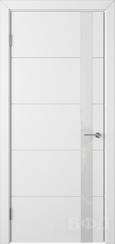 Межкомнатная дверь ВФД - Тривиа 50ДО0 белый (ул.белое ...